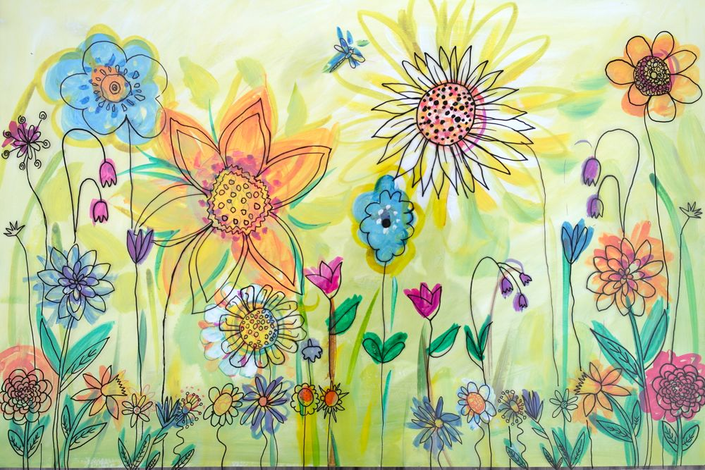 'The Brightest Of Beginnings' Flower Garden Murals At