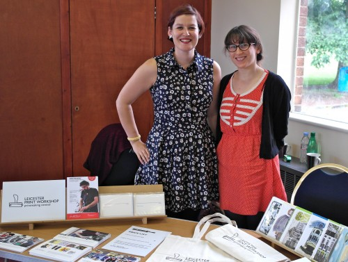 'The lovely Gemma and Katharine from Leicester Print Workshop!'