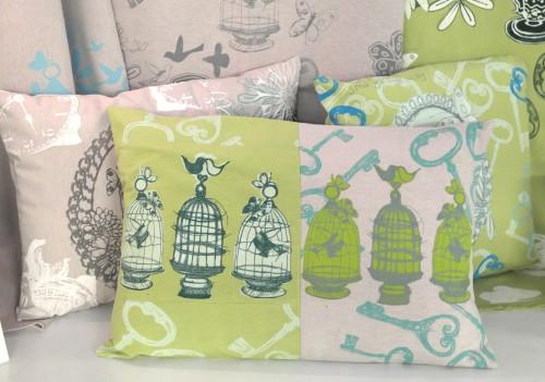 'Birds of love cushion'