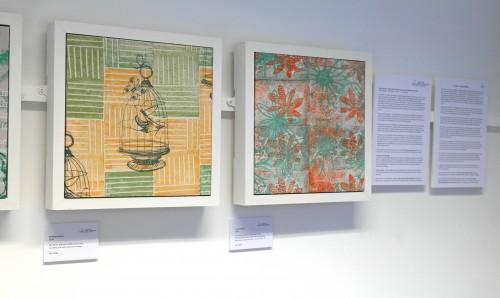 'flower garden layered prints'