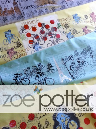 'Quirky, vibrant fabric prints, inspired by cycling!'