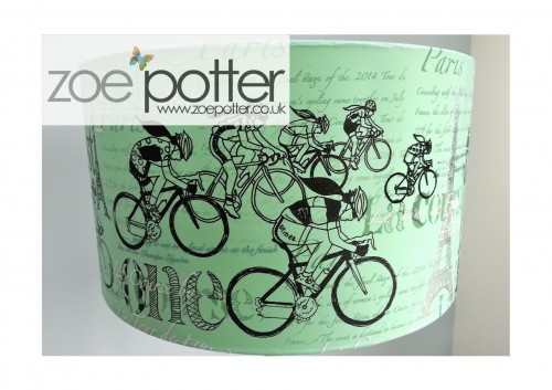 'La Course' Screen Printed Lampshade