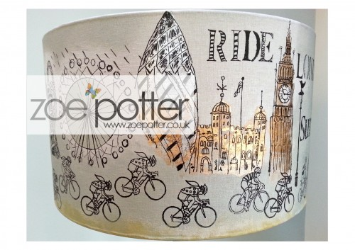 'Riding High' Screen Printed Lampshade