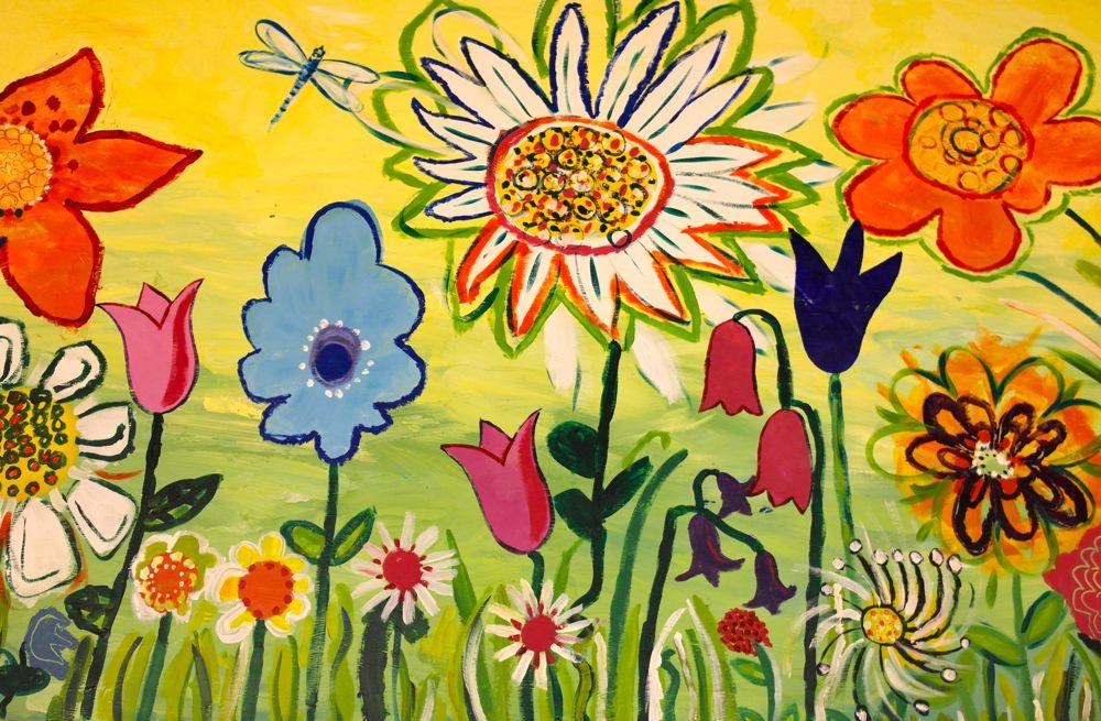 'The Brightest of Beginnings' Flower garden murals at ...